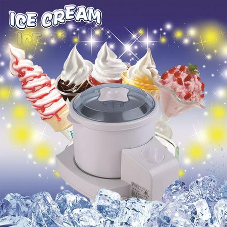 New Electric Homemade Ice Cream Frozen Yogurt And Sorbet Maker  2 Quart Machine Eco Friendly Ice Cream Makers