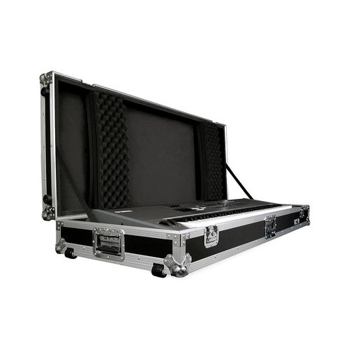 Road Ready Cases 88 Keyboard Case with Z-Lock Foam with Wheels