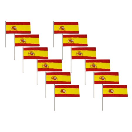Spain flag 12 x 18 inch - 12 PK](Spanish Flags)