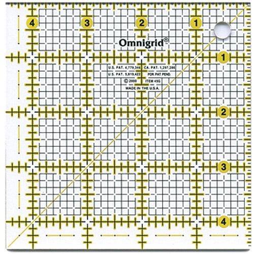 """Omnigrid Quilter's Square, 4-1/2"""" x 4-1/2"""""""