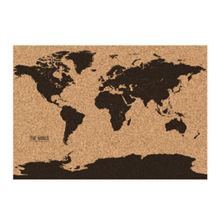 Corkboard world map earth cork board 228 x 322 pins rolled in corkboard world map earth cork board 228 x 322 pins rolled gumiabroncs Image collections