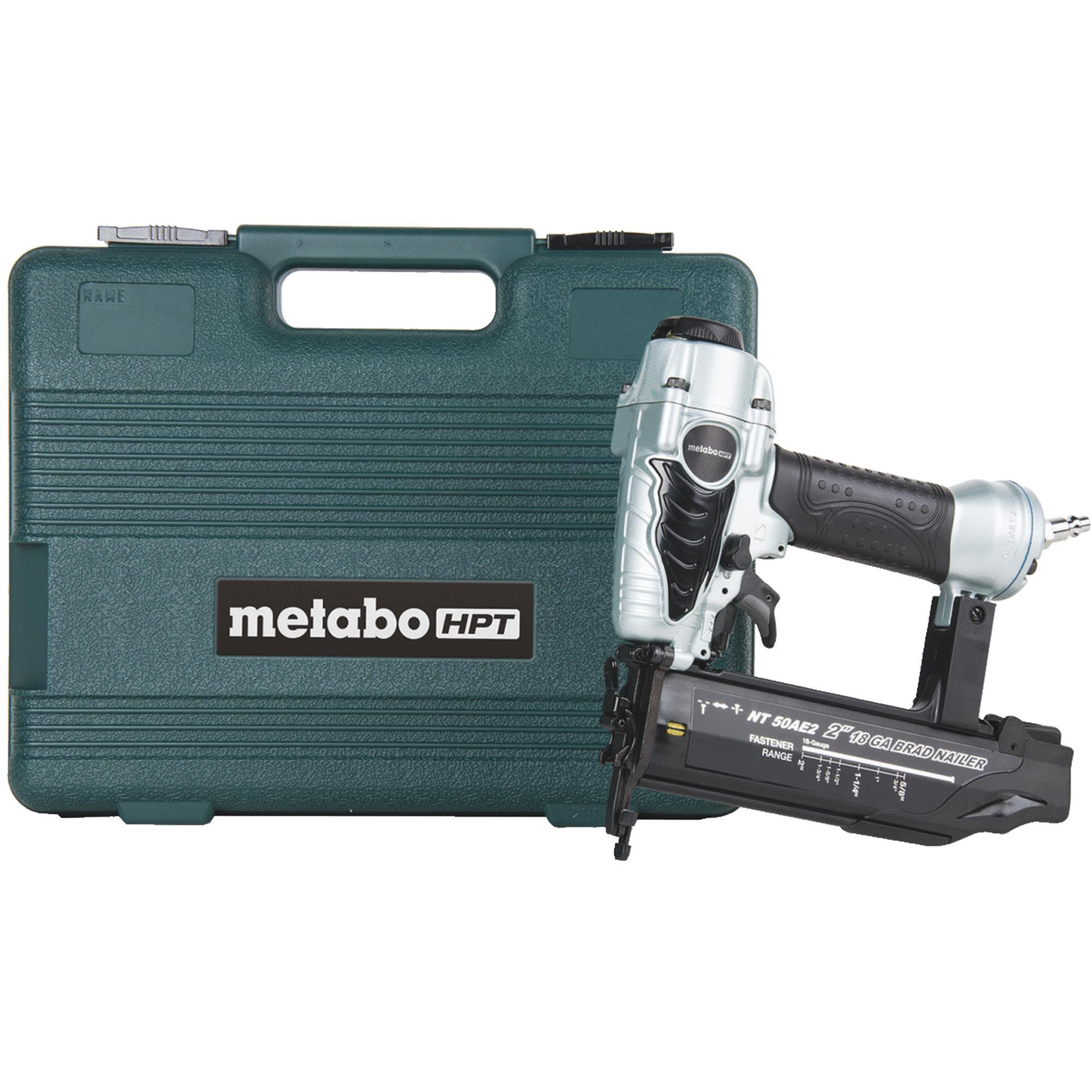 Metabo HPT NT50AE2M 18-Gauge 2 in. Finish Brad Nailer Kit by Hitachi Power Tools