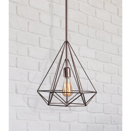 Kenroy Home Pyramid Vintage Copper 1 Light Pendant Aged Copper 1 Light