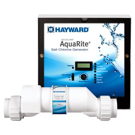 Chlorine Chlorinator (Hayward AQR15 AquaRite Salt Pool Chlorinator Control Box w/ 40,000 Gallon Cell)