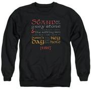 Hobbit Keyhole Mens Crewneck Sweatshirt