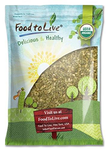 Food To Live ® Organic Pepitas / Pumpkin Seeds (Raw, No Shell) (8 Pounds)