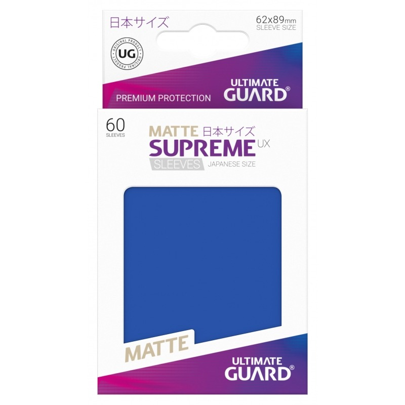 60 Piece Matte Blue Ultimate Guard Supreme Japanese UX Card Sleeves