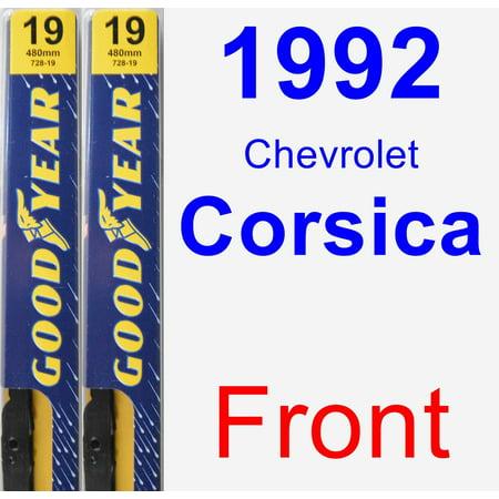 1992 Chevrolet Corsica Wiper Blade Set/Kit (Front) (2 Blades) - Premium 1992 Chevrolet Corsica Walker