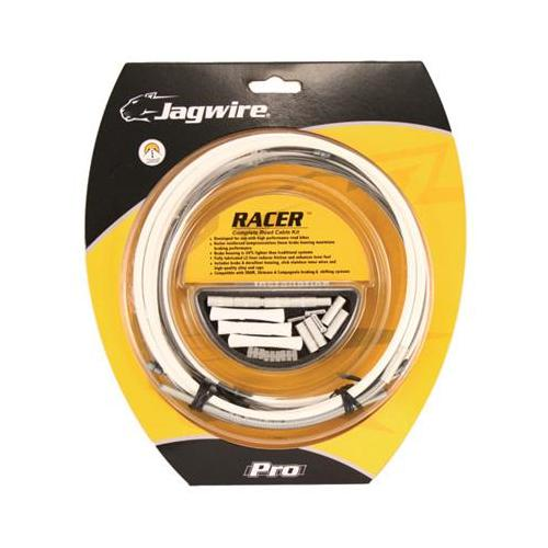 Jagwire Racer DIY Complete Road Bicycle Brake Cable Kit (White)