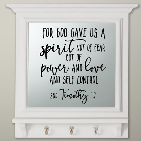 Decal ~ Scripture For God gave us a Spirit not of fear, but of power and love: Timothy 1:7 ~ Wall Decal 13