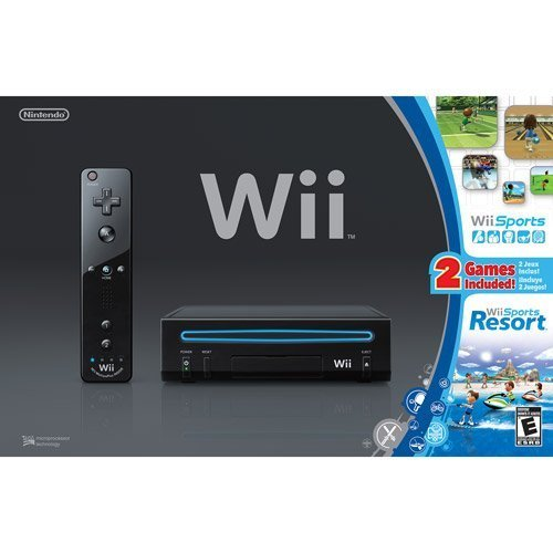 Refurbished Wii Console Black With Wii Sports & Wii Sports Resort