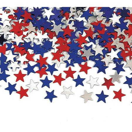 creative converting metallic star confetti, red, white and blue (Red White And Blue Star)
