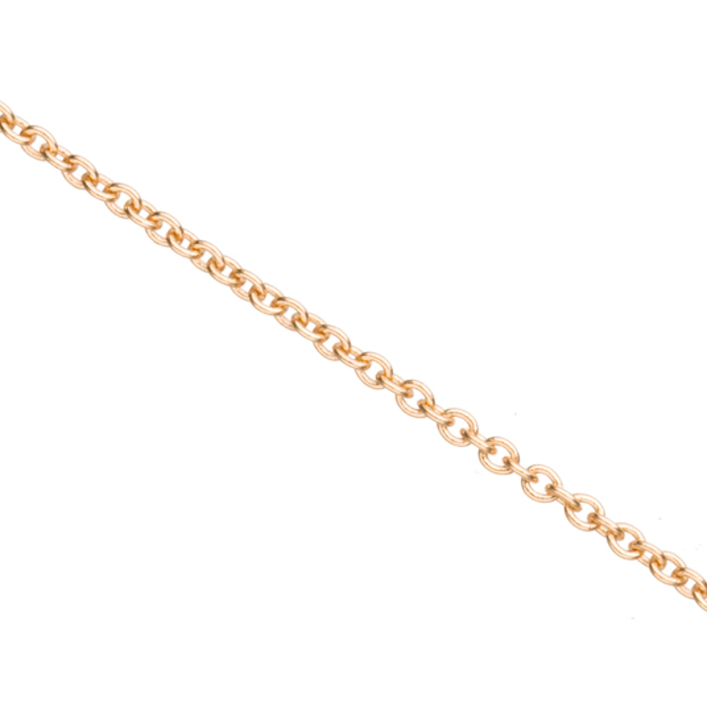 Gold Cable Chain, Gold Finished Brass 1.4mm 5 Ft/pack (5-pack Value Bundle), SAVE $4