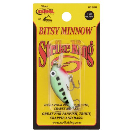 Strike King Bitsy Minnow Baby Bass Fishing Lure, 1/8