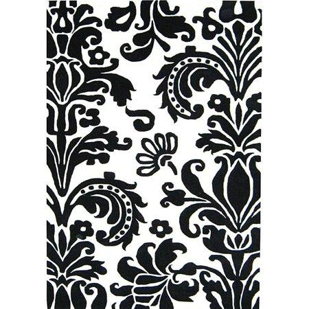 Image of Alliyah Rugs Alliyah Handmade Black New Zealand Blend Wool Rug (8' x 10')