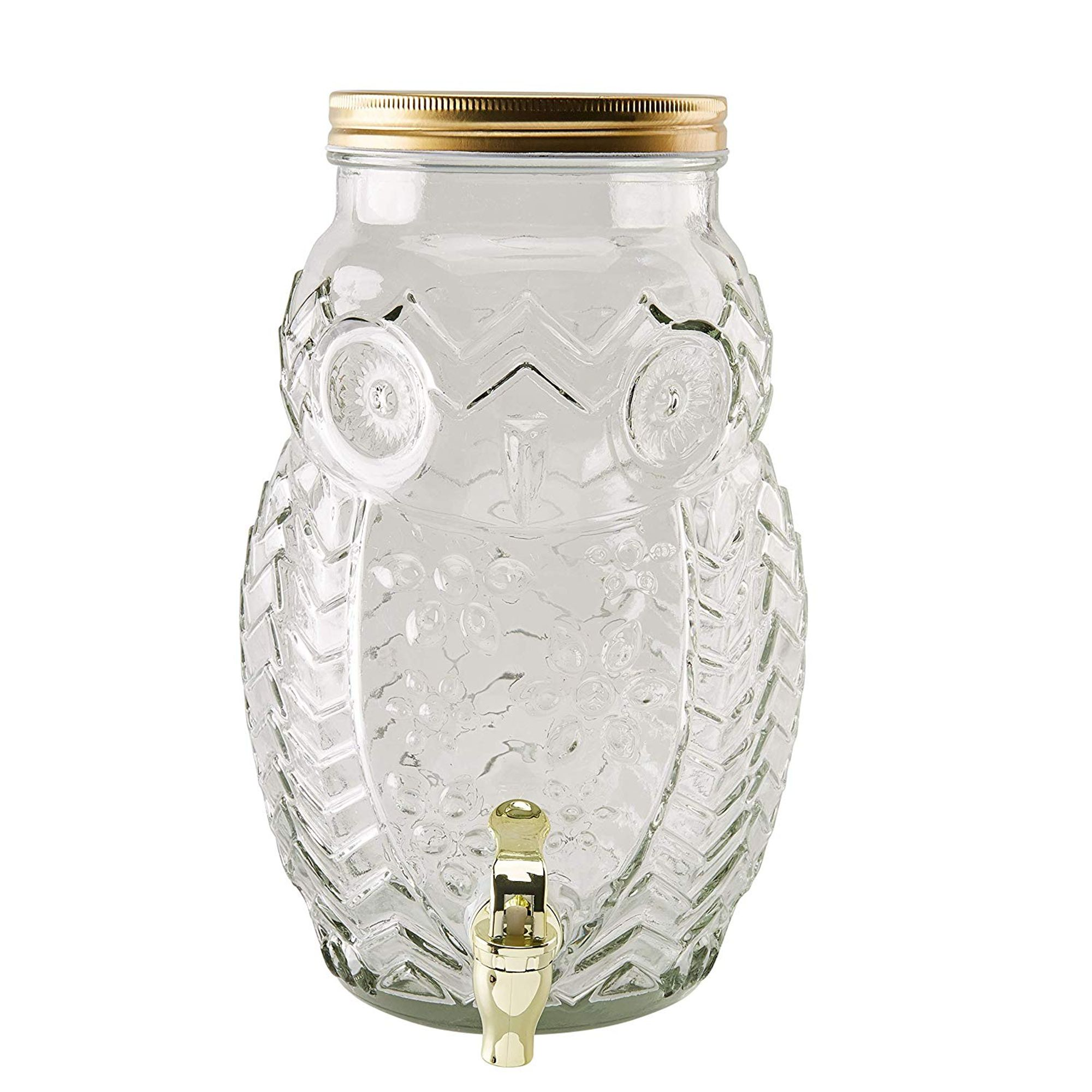 Glass Beverage Dispenser Owl Shaped 1 38 Gallon Mason Jar Drink Container With Lid And Plastic Spigot Wedding Birthday Party Catering Supplies Juice Bar Clear 9 X 8 3 X 12 3 Inches 5 35 Liter Walmart Com Walmart Com