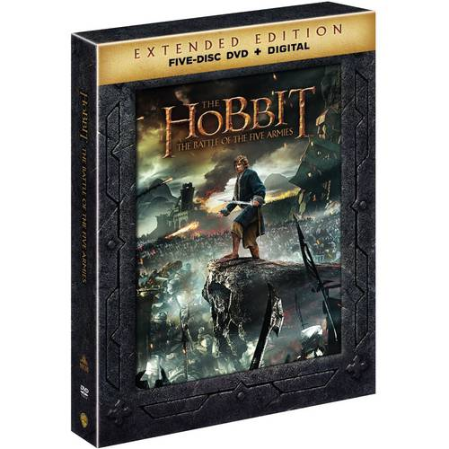 The Hobbit: Battle Of The Five Armies (Extended Edition) (DVD + Digital Copy With UltraViolet) (With... by