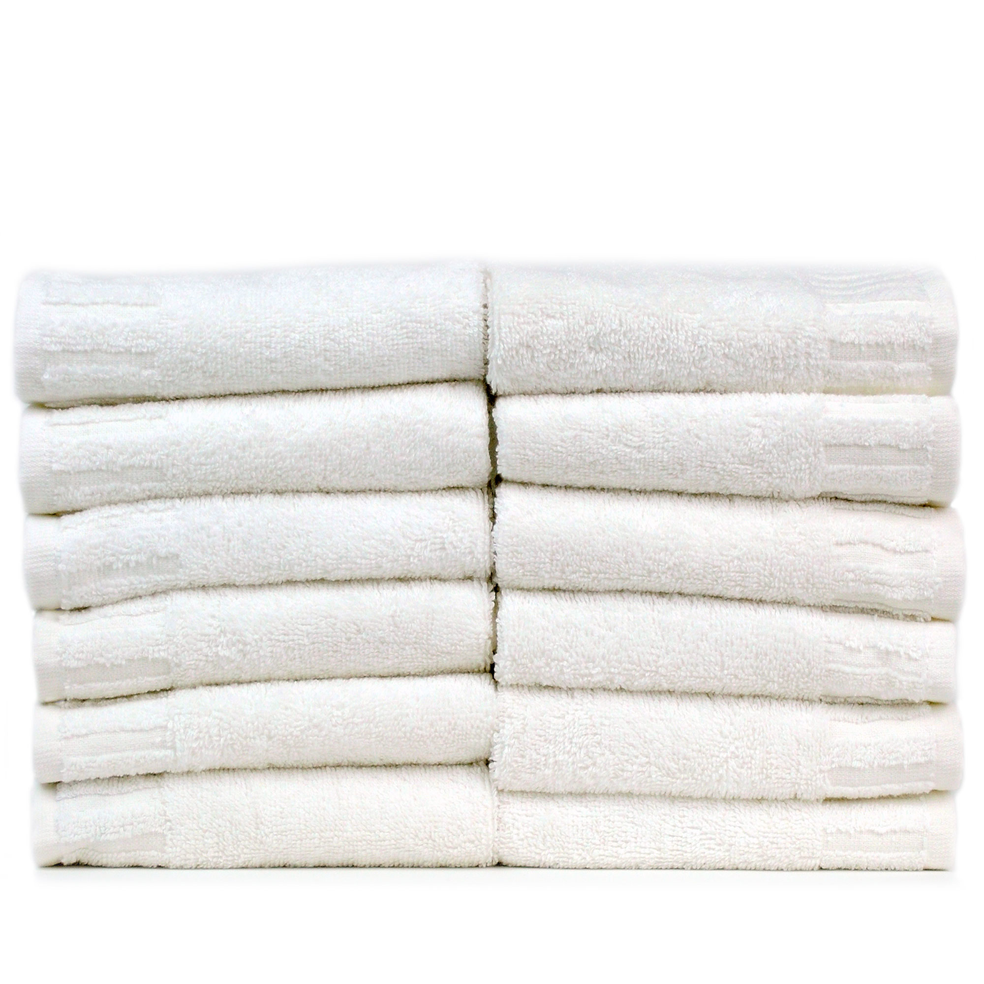 Bare Cotton Luxury Hotel & Spa Towel 100% Genuine Turkish Cotton Washcloths - White - Piano -  Set of 6