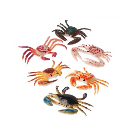 Plastic Toy Crabs Sea Creature Crustacean Colorful 12 Pack - Colorful Sea Creatures