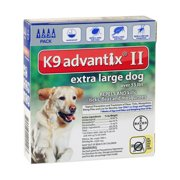 K-9 Advantix II Flea and Tick Treatment for Extra-Large Dogs, 4 Doses