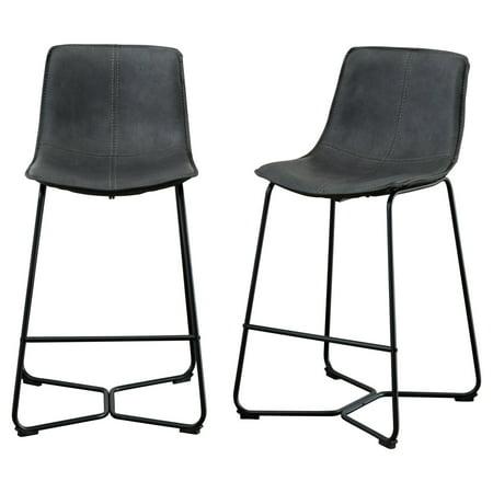 Roundhill Furniture New Atlanta Lance 29 in. Upholstered Bar Stool - Set of 2 ()