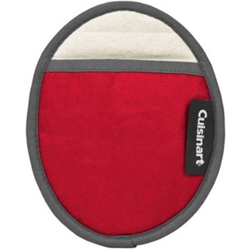 Cuisinart Cotton Oval Pot Holder with Silicone- Red
