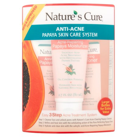 Natures Cure Anti Acne Papaya Skin Care System