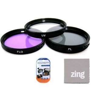 77mm Multi-Coated 3 Piece Filter Kit (UV-CPL-FLD) For Sony 16-35mm f/2.8 ZA SSM Carl Zeiss AF SLR Lens + MicroFiber Cleaning Cloth + LCD Screen Protectors