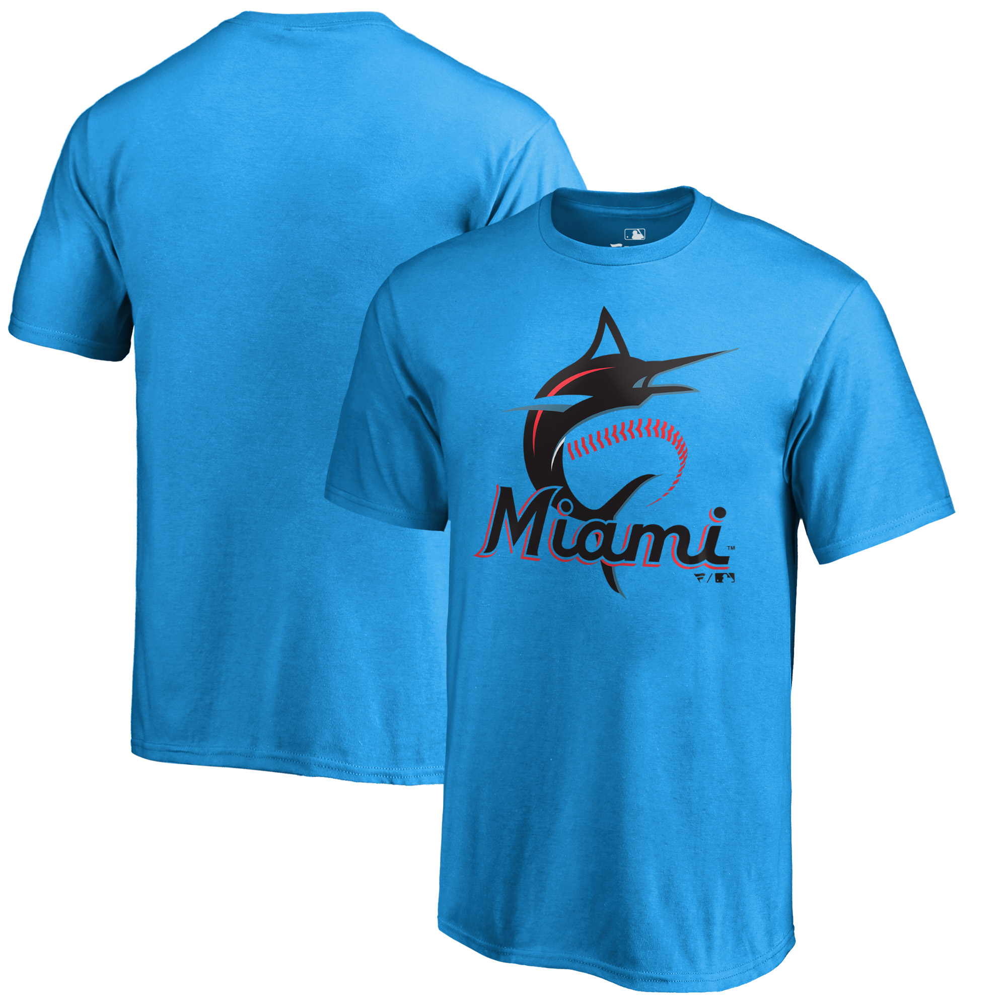 Miami Marlins Fanatics Branded Youth Primary Logo T-Shirt - Blue