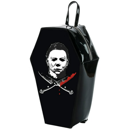 Halloween 2 Michael Myers Crossed Knives Coffin Backpack (Halloween 2 Knife)