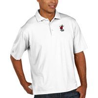 Miami Heat Antigua Pique Xtra Lite Big & Tall Polo - White
