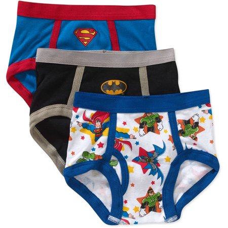 Superfriends Batman, Superman, Justice League Brief Underwear, 3-Pack (Toddler Boys)