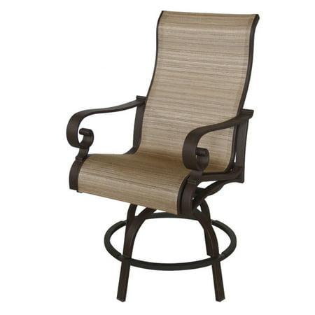 royal garden rivera aluminum outdoor sling swivel bar height stools set of 2. Black Bedroom Furniture Sets. Home Design Ideas