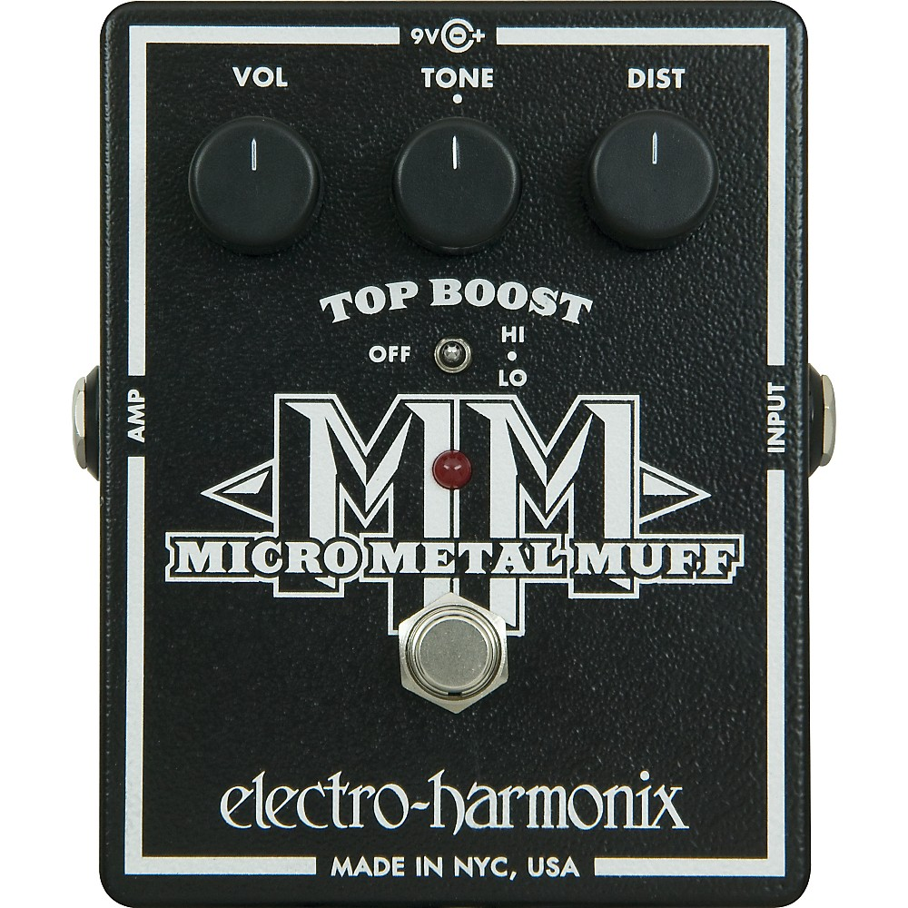 Electro-Harmonix XO Micro Metal Muff Distortion Guitar Effects Pedal by Electro-Harmonix