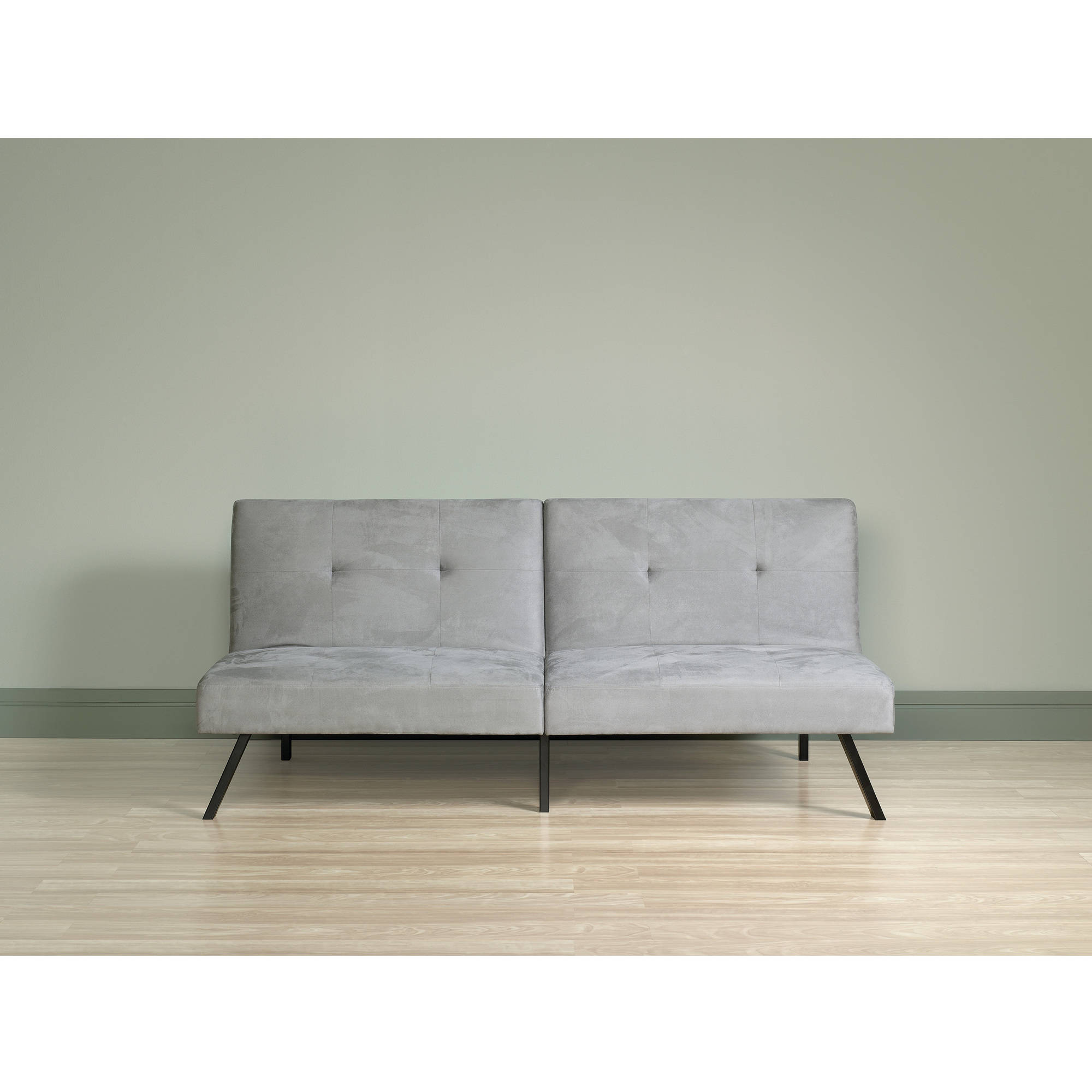 sauder milano convertible sofa light gray finish   walmart    rh   walmart