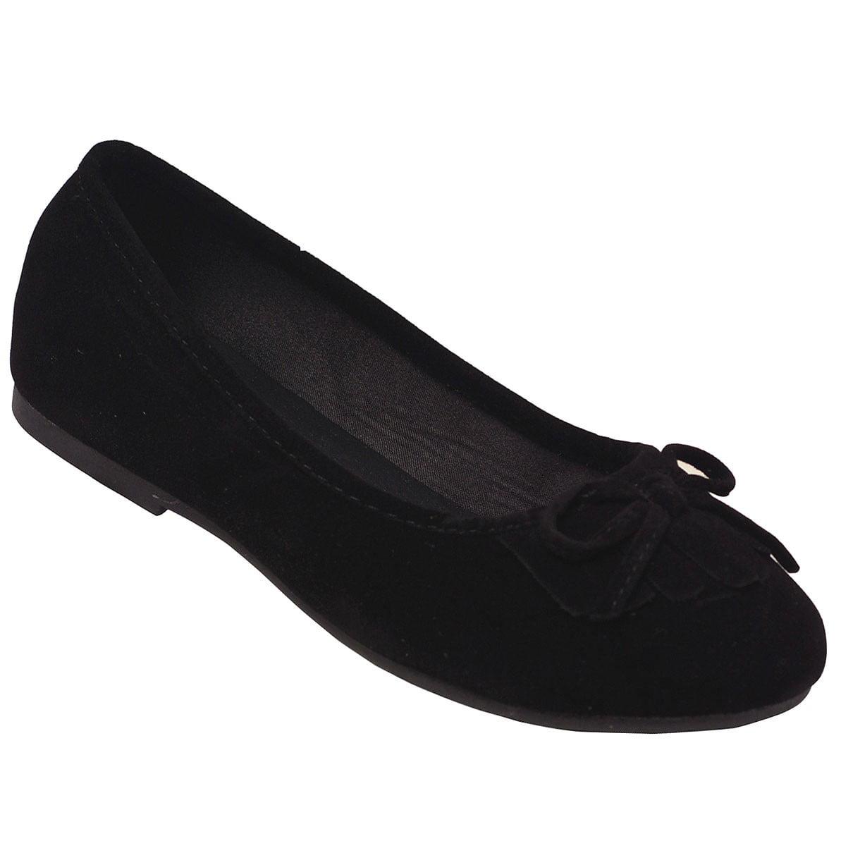 Girls Walmart Brand Jelly Ballet Flat Shoes Black Size 2 NEW