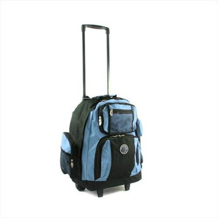 738131-SKY Roll-Away Deluxe Rolling Backpack, Sky Blue