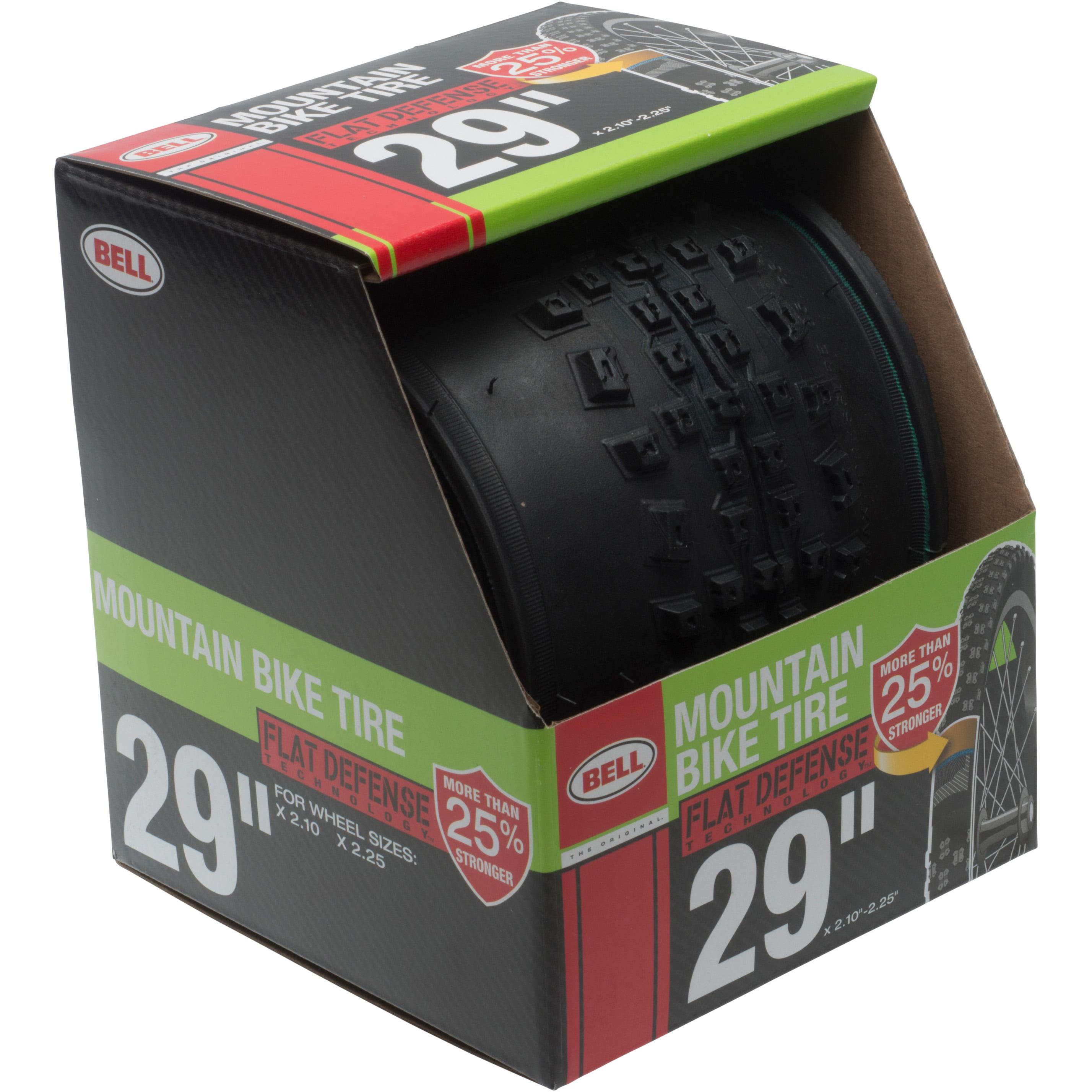 "Bell Sports Flat Defense Mountain Bike Tire, 29"" x 2.10-2.25"", Black"