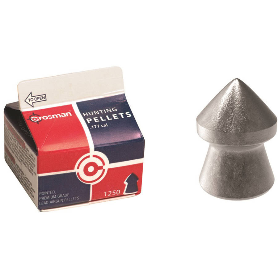 Crosman Pointed .177 Caliber 7.4 Grain Airgun Pellets, 1,250ct