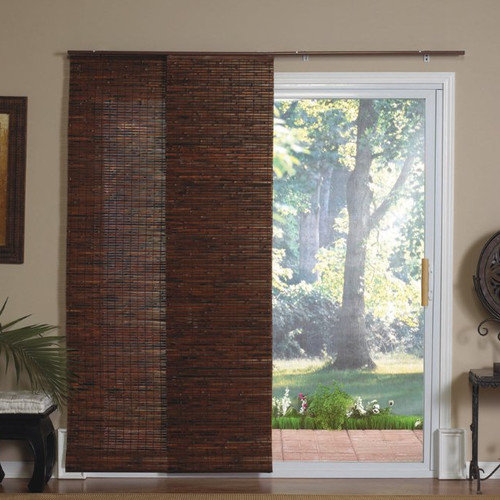 Radiance DO NOT SET LIVE!Panel Track Bamboo Blind in Java Mahogany
