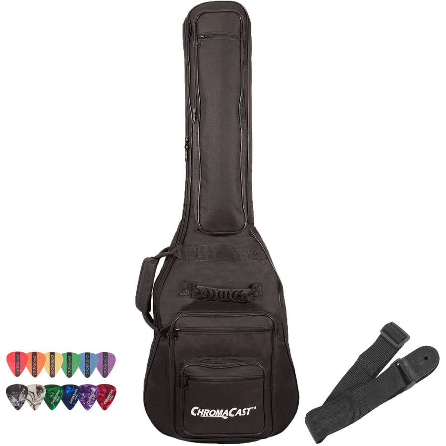 ChromaCast 6-Pocket Electric Guitar Padded Gig Bag with Accessories
