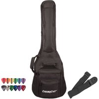 ChromaCast Electric Guitar Soft Case, Padded Gig Bag, Includes Strap & Picks