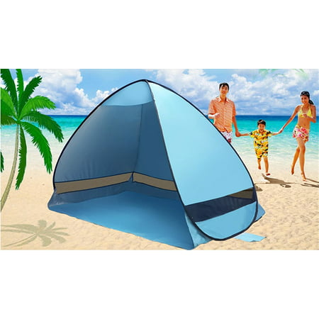 Outdoor 2-3 Persons Sun Shelter, Portable Pop Up Instant Cabana Canopy Anti-UV Sun Shade for Camping Fishing Picnic Beach Lake (Portable Sunshade)