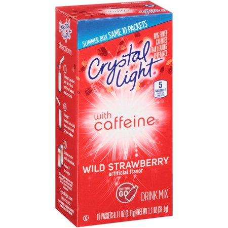 Crystal Light On The Go Energy Wild Strawberry Energy Drink Mix  10 Ct