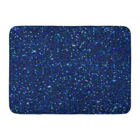 GODPOK Blue Sparkles with Shine Sapphire Glitter Glamour Style for Your Design Party Holidays Xmas Wedding Holi Rug Doormat Bath Mat 23.6x15.7 inch