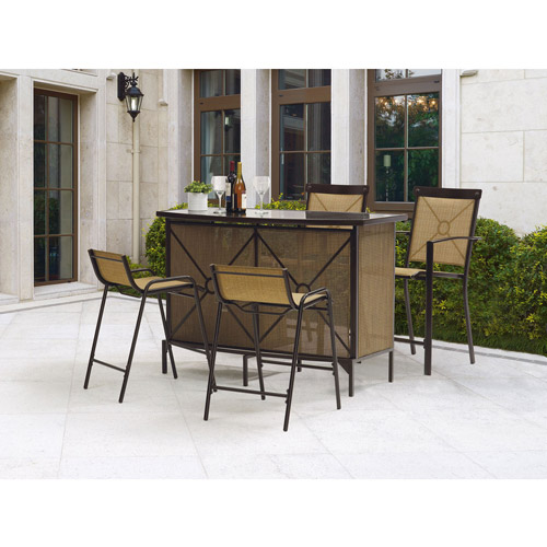 Mainstays Palmerton Landing 5-Piece Bar Height Patio Dining Set, Seats 4