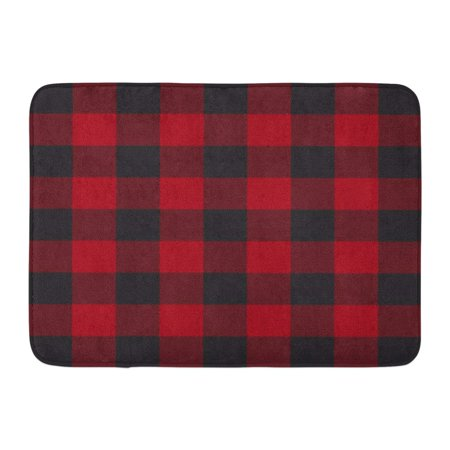 Laddke Abstract Lumberjack Plaid Pattern Red And Black