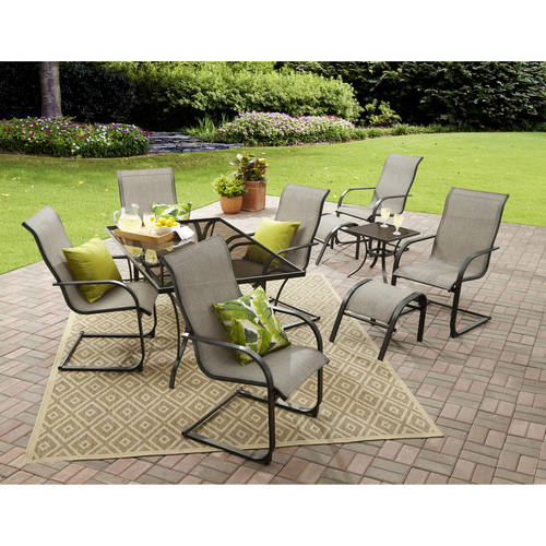 Mainstays Bristol Springs 10-Piece Dining Set, Grey