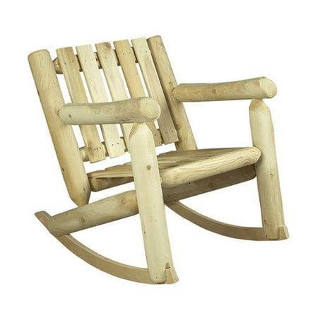 Rustic Natural Cedar Furniture Low Back Indoor Outdoor Cedar Rocking Chair