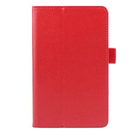 THZY Fashion Stand Folding Folio Leather Cover Case for LG G Pad 7.0 V400 (Red)